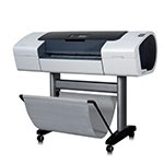 HP Designjet T1100 24 inch canvas