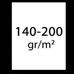 140 t/m 200 gr plotterpapier