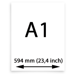 A1 canvas (594mm, 23,4 inch)