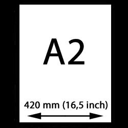 A2 poster papier (420mm, 16,5 inch)